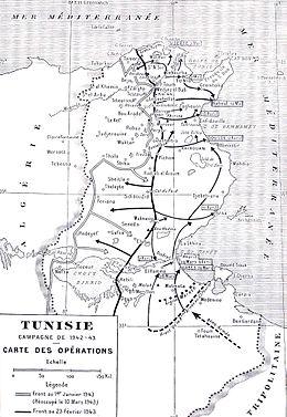 Une Carte Au Tresor En Allemand.Campagne De Tunisie Wikipedia