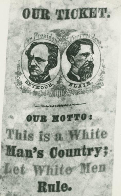 Campaign badge, 1868