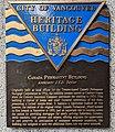 Canada Permanent Building Heritage Plaque. 422 Richards St Vancouver 2020 Dec 14.jpg