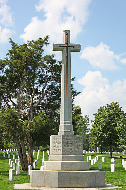 Canadian Cross of Sacrifice at Arlington National Cemetery. Canadian Cross - Arlington National Cemetery - 2011.JPG