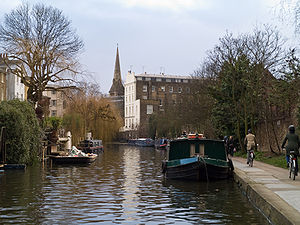 The Regent's Canal in London (United Kingdom)....