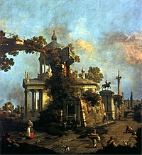 Canaletto - Capriccio with a Domed Church and the Colleoni Monument.jpg