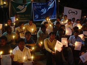 Standardization of Office Open XML - Office Open XML ISO standardization protest in Bangalore, India.