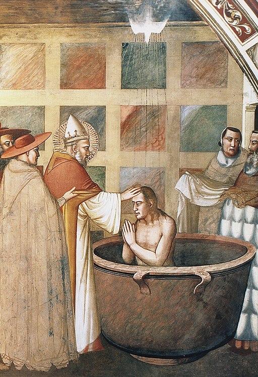 Maso di Banco, Storie di san Silvestro, Battesimo di Costantino, Cappella Bardi di Vernio, Santa Croce, Firenze