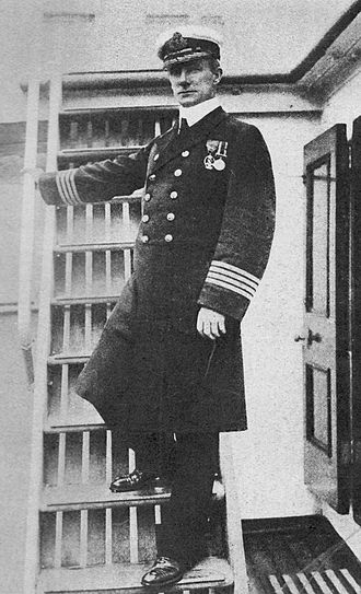 Arthur Rostron - Capt. A.H. Rostron while master of Carpathia in April 1912, at the time of rescuing Titanic survivors.