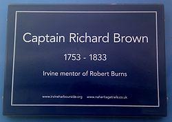 Photo of Richard Brown blue plaque