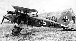 Halberstädter Flugzeugwerke - Captured Halberstadt CL.II at Flesselles, France, June 1918