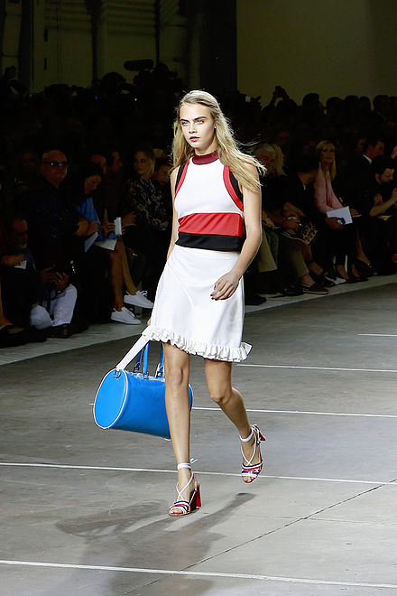 5900c72cc05 Delevingne at London Fashion Week in September 2014