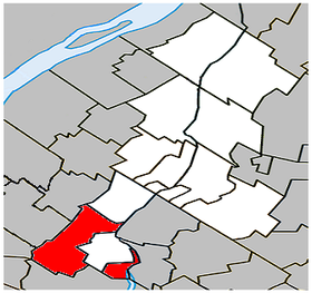 Carignan Quebec location diagram.PNG