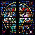Carl Huneke's faceted glass window - Young Jesus Teaching in the Temple at St. Felicitas Church in San Leandro, CA.jpg