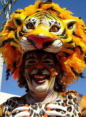 Barranquilla's Carnival - A costume.