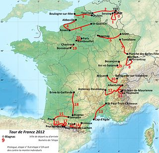 Carte du tracé du tour de France 2012.jpg