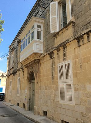 Attard - Casa Bonavita, historic 18th-century house in Attard, Malta. Scheduled and cultural property.