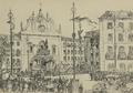 Casamento de S.A. o Príncipe Real D. Carlos de Bragança - Sahida do Cortejo da Egreja de Santa Justa.png