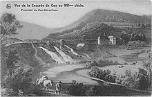 Cascade de Coo au XVme siècle.jpg