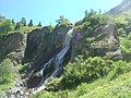 Cascade ruisseau chapeau roux- way to lake of Muzelle 38.jpg