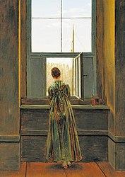 Caspar David Friedrich: Frau am Fenster