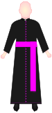 Cassock (Chaplain of His Holiness).svg