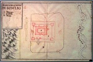 Báthory Castle - Image: Castel di Somlo Marsigli