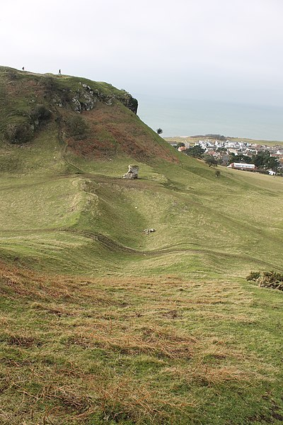 File:Castell Degannwy Deganwy Castle Sir Ddinbych Wales 40.JPG