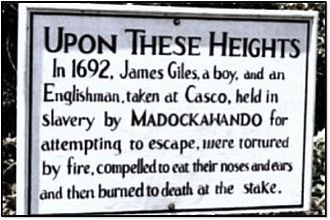 Fort Pentagouet - Image: Castine Maine Plaque James Giles