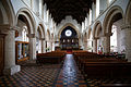 Castle Hedingham, St Nicholas' Church, Essex England, nave and chancel from the west 2.jpg