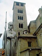 Homenatge a la Pau i treva, davant del campanar de la catedral de Vic, Osona