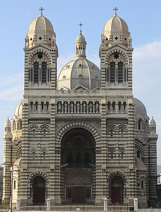 Marseille Cathedral - Façade of the cathedral