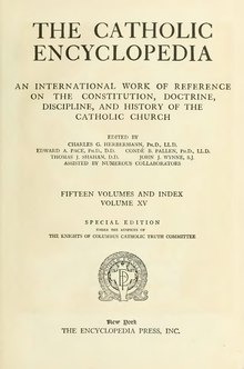 Catholic Encyclopedia, volume 15.djvu