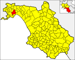 Cava within the Province of Salerno