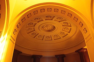 John Soane - Ceiling in the Bourgeois Mausoleum, Dulwich House (Dulwich Picture Gallery)