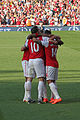 Celebrating Kieran Gibbs goal (6867597634).jpg