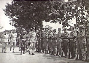 Kenneth Eather - General Eather in Rabaul celebrating the 34th anniversary of the founding of the Republic of China with Chinese troops on 10 October 1945