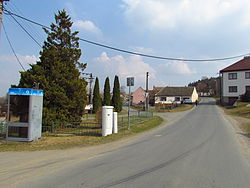 Center of Čechočovice, Třebíč District.JPG
