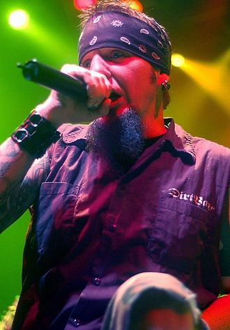 Hellyeah - Founding member and vocalist Chad Gray in 2009.