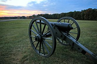 A 3-inch Parrott rifle from the Battle of Chancellorsville ChancellorsvilleBattlefieldModern.jpg