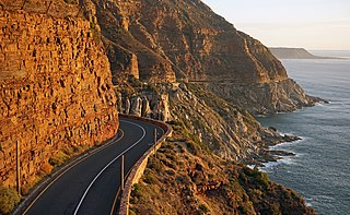 Chapmans Peak Mountain on the Cape Peninsula, South Africa