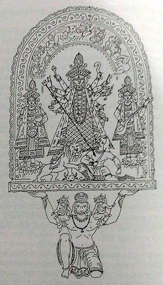Chalchitra - Charichapara bhadrakali pratima chitra, Nabadwip