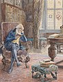 Charles Edward Brock Bibliothek mit Lesendem.jpg