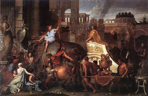 Charles Le Brun - Entry of Alexander into Babylon - WGA12531