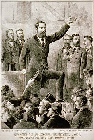 Irish Home Rule movement - Charles Stewart Parnell addressing a meeting