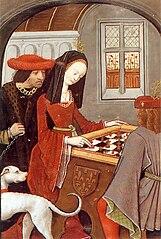 Charles d'Angoulême and Louise de Savoie jouant aux échecs