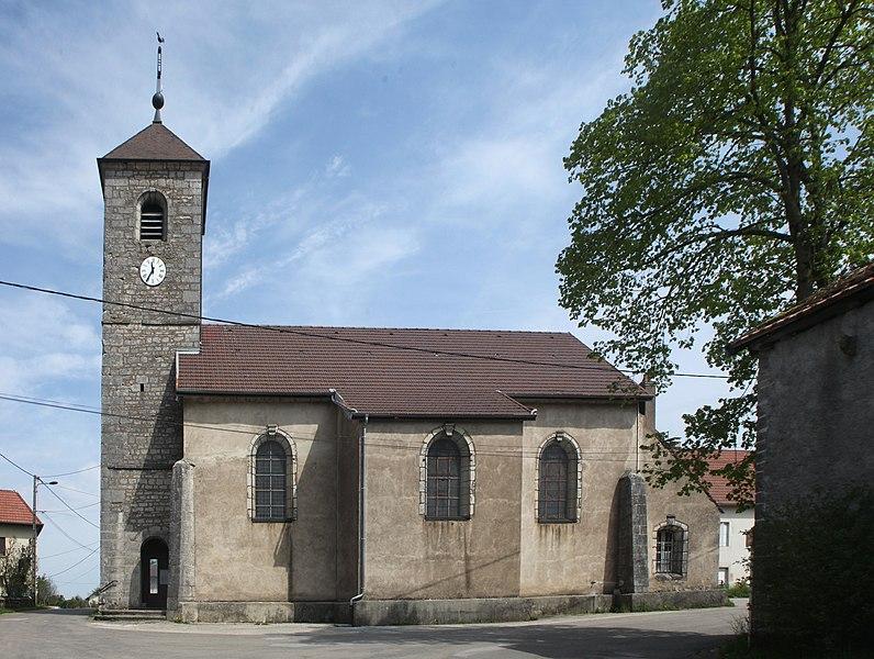 Église de Chassagne-Saint-Denis (Doubs).