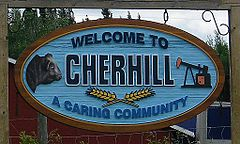 An entrance sign of Cherhill