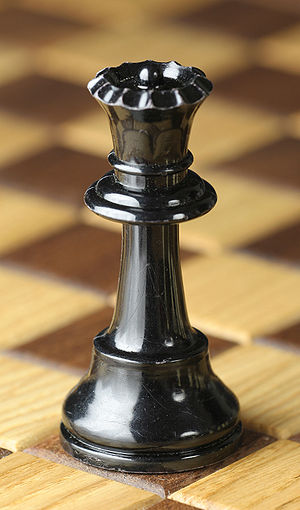 Chess piece - Black queen, Staunton design