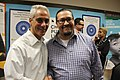 Chicago Mayor Rahm Emanuel and Omar Damacela from LISC Chicago Financial Opportunity Centers at the Connect Chicago Launch at the Chicago Public Library Humboldt Park Branch (26195271540).jpg