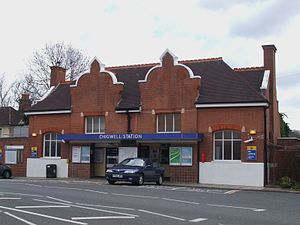 Chigwell tube station - Entrance to Station Road