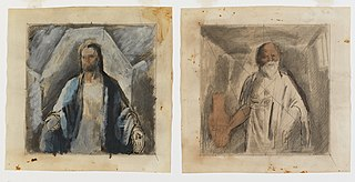 Christ and Socrates (mural study, \