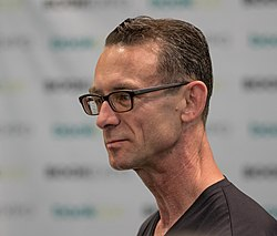 Palahniuk at BookCon in June 2018