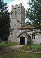 Church tower and porch, St Michael South Elmham - geograph.org.uk - 864087.jpg